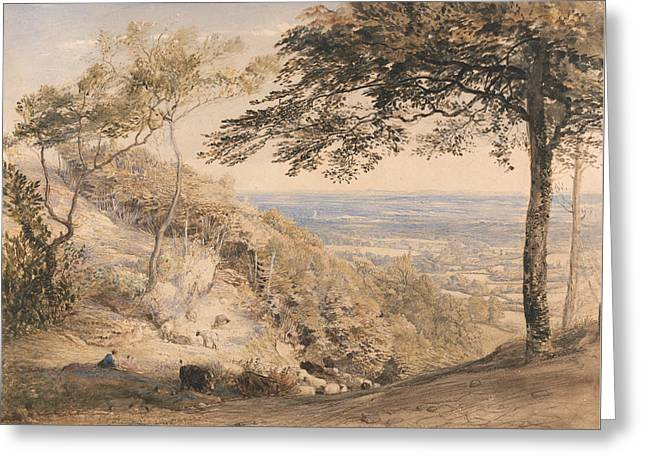 Wilmot's Hill, Kent Greeting Card by Samuel Palmer