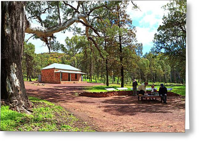 Greeting Card featuring the photograph Wilpena Pound Homestead by Bill Robinson