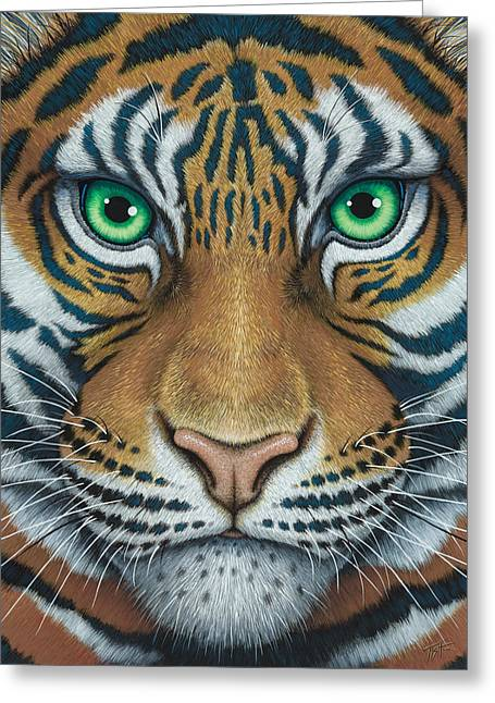Wils Eyes Tiger Face Greeting Card
