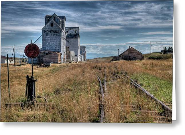 Wilsall Grain Elevators Greeting Card