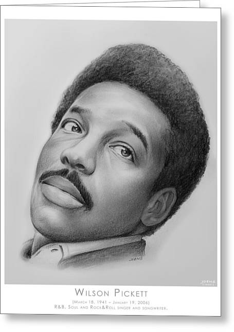 Wilson Pickett Greeting Card by Greg Joens