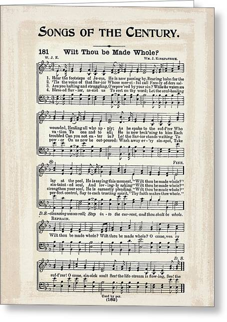 Wilt Thou Be Made Whole 1900 Greeting Card by Melissa Smith