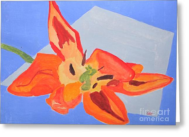 Wilted Tulip Greeting Card