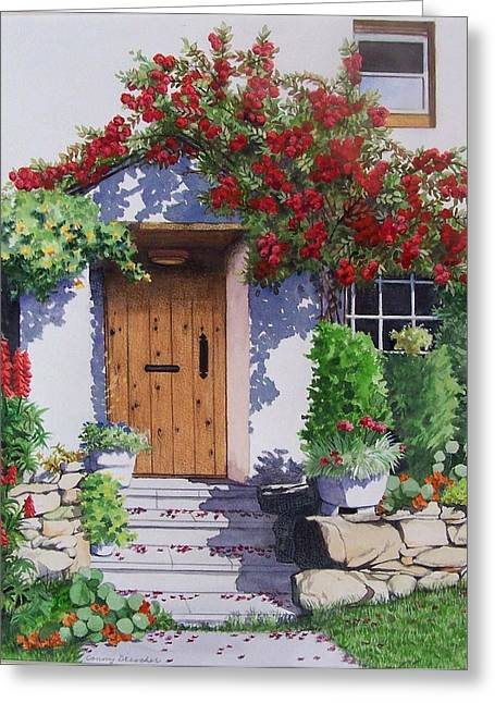 Wiltshire Cottage Greeting Card by Constance Drescher