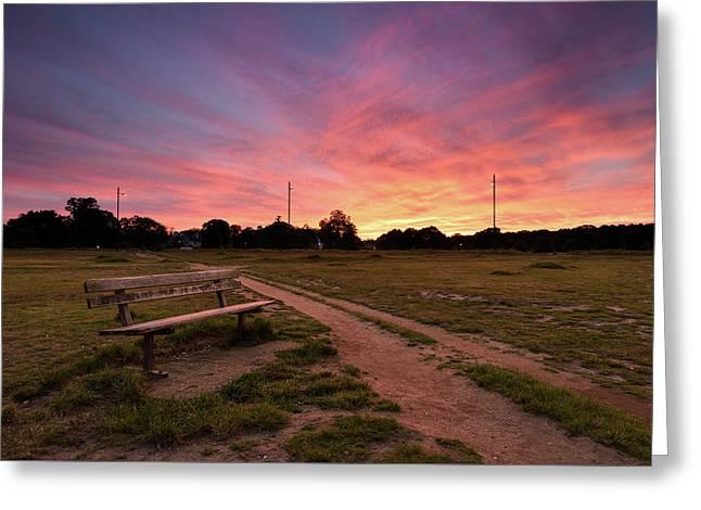 Wimbledon Common Sunset Greeting Card by Matt Malloy