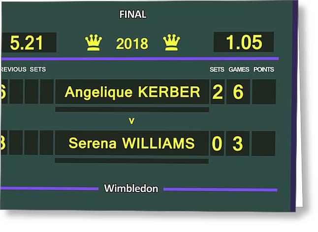 Wimbledon Scoreboard - Customizable - 2017 Muguruza Greeting Card