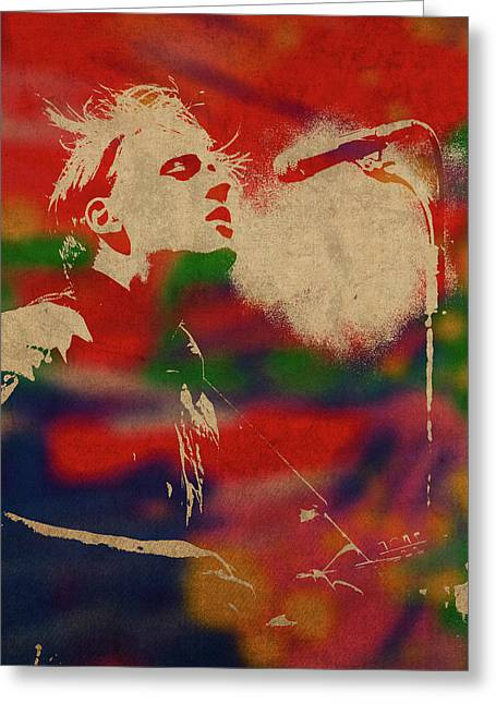 Win Butler Of Arcade Fire Watercolor Portrait Greeting Card