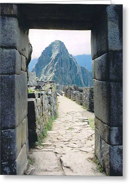 Kathy Schumann Greeting Cards - Winay Picchu Greeting Card by Kathy Schumann