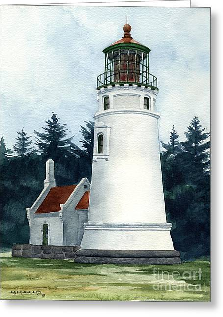 Winchester Bay Lighthouse Greeting Card