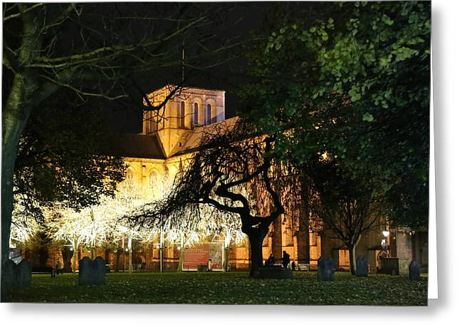 Winchester Cathedral Greeting Card by Mark Draper