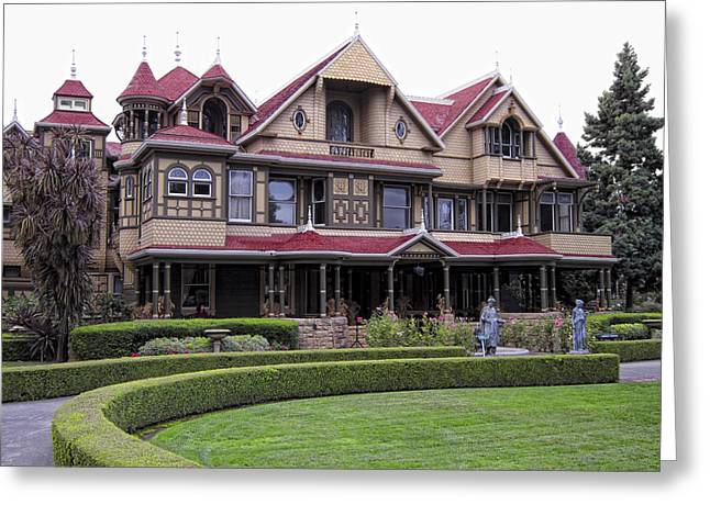"""haunted House"" Photographs Greeting Cards - Winchester Mystery House Greeting Card by Daniel Hagerman"