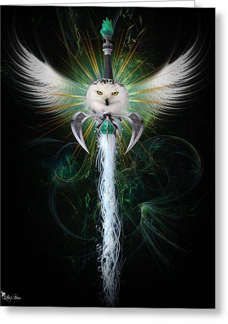 Wind Greeting Card by Ali Oppy