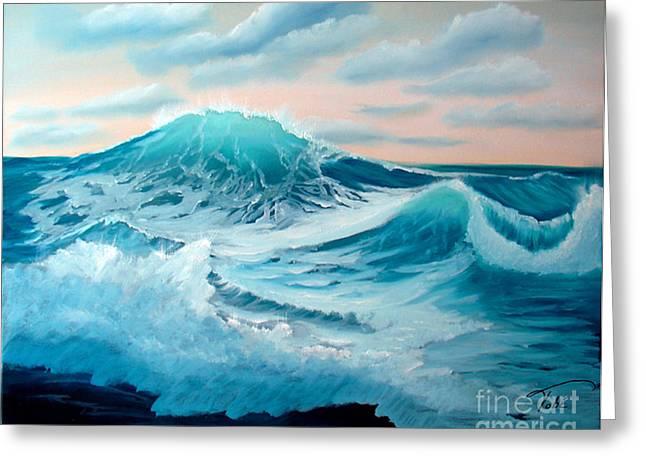 Wind And Surf II Greeting Card by Tobi Czumak