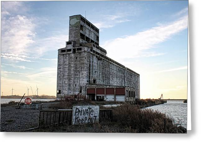 Silo Greeting Cards - Wind and Weathering Greeting Card by Peter Chilelli