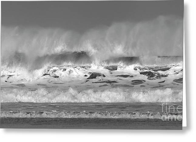 Greeting Card featuring the photograph Wind Blown Waves by Nicholas Burningham