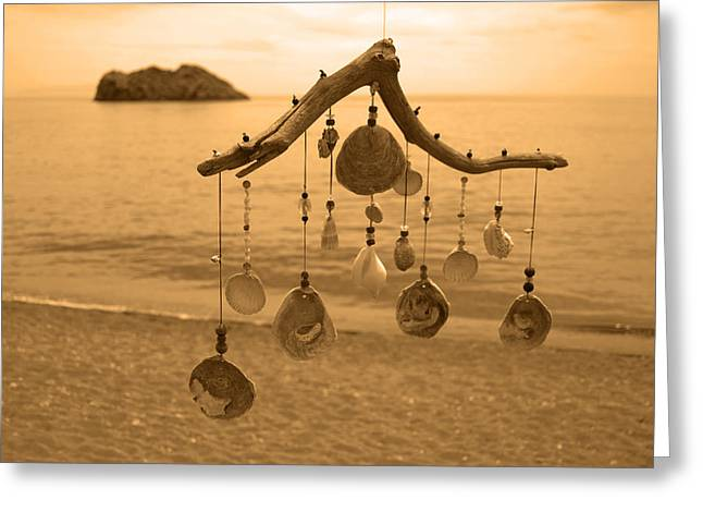 Wind Chime Greeting Card by Daren Griffin