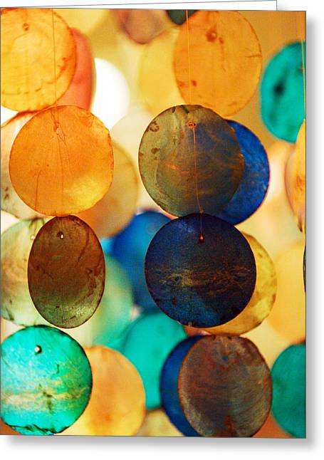 Wind Chimes Greeting Card by Jill Reger
