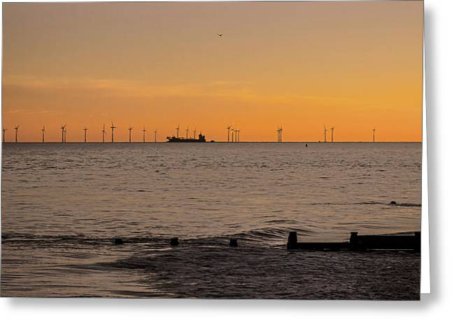 Wind Farm Greeting Card by Martin Newman