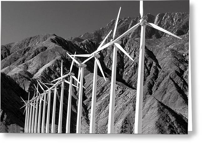 Greeting Card featuring the photograph Wind Generators by Jeff Phillippi
