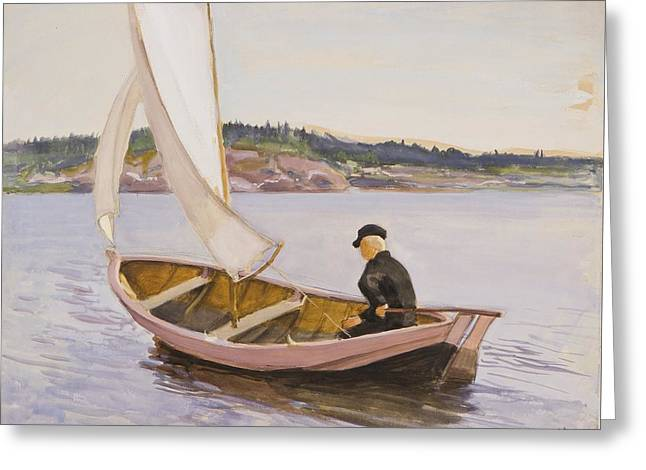 Wind In The Sails Greeting Card by Eero Jrnefelt
