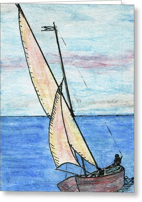 Wind In The Sails Greeting Card