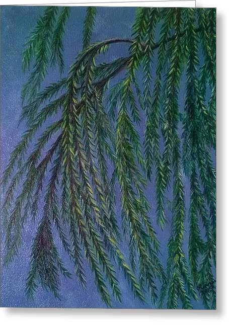 Wind In The Willow Greeting Card by Joann Renner