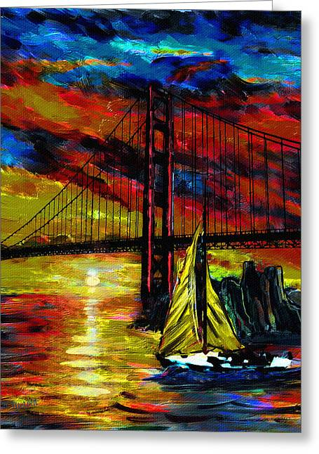 Wind Meets Sail Greeting Card
