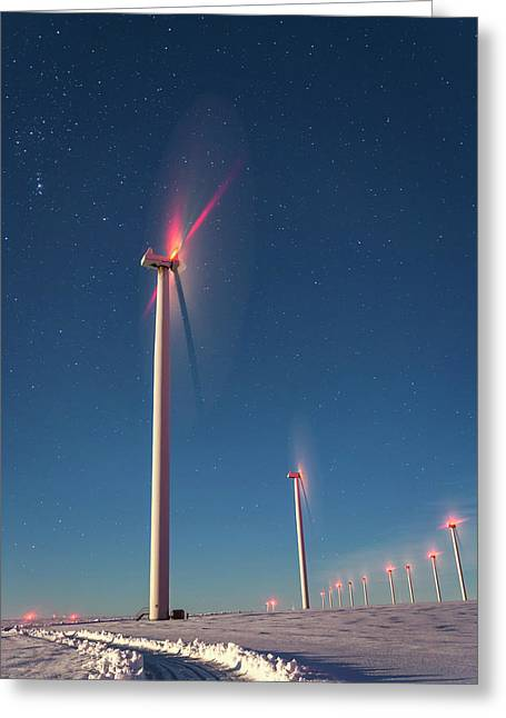 Greeting Card featuring the photograph Wind Power by Cat Connor