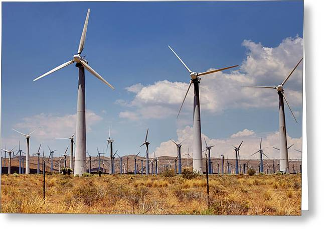Wind Power II Greeting Card by Ricky Barnard