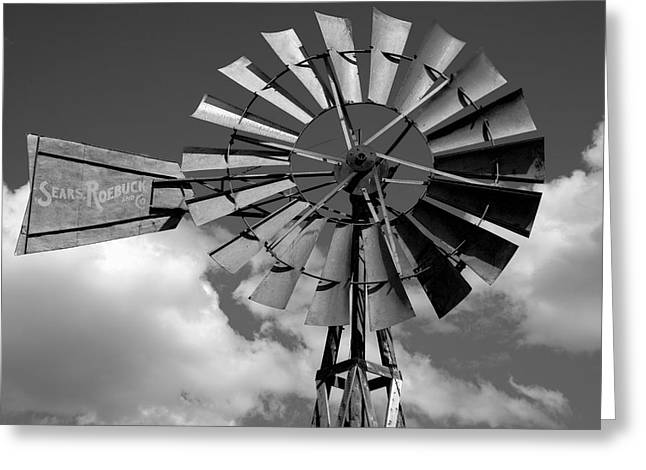 Wind Power On The Farm Greeting Card