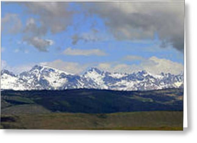 Dm9504-wind River Range Panorama  Greeting Card