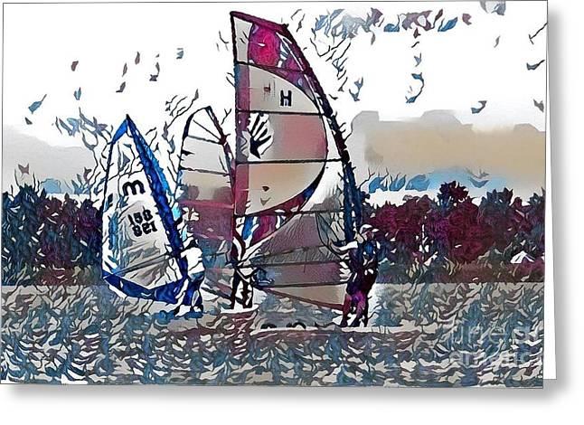 Wind Sailing  Greeting Card