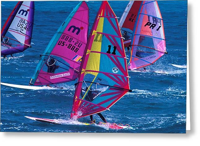 Wind Surfers In Nassau Greeting Card