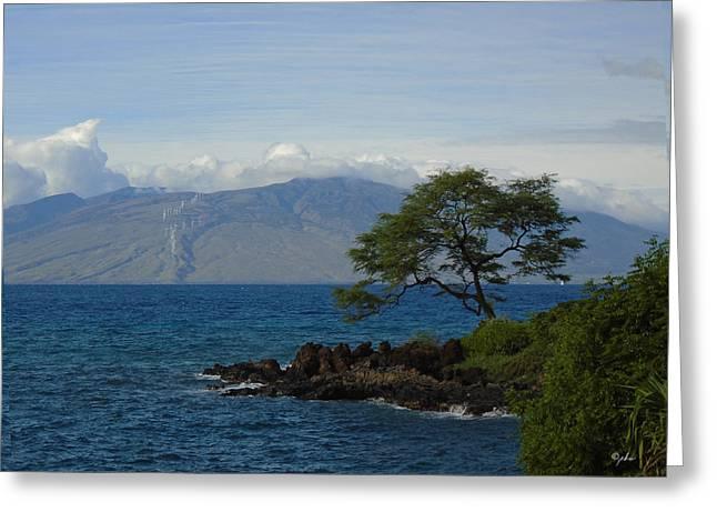 Wind Turbines - Maui Greeting Card