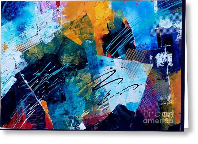Wind Vibrations Greeting Card by Donna Frost