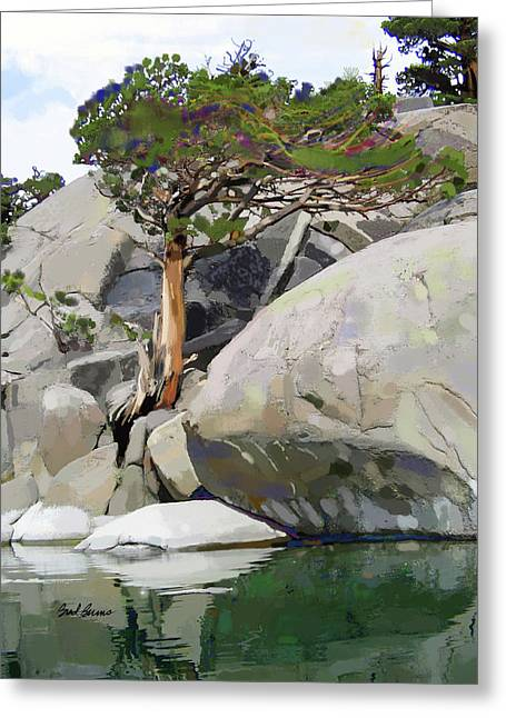 Wind, Water And Granite Greeting Card by Brad Burns