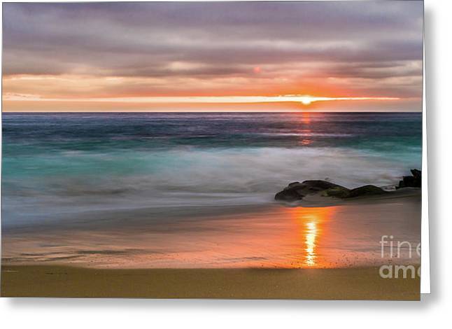 Windansea Beach At Sunset Greeting Card