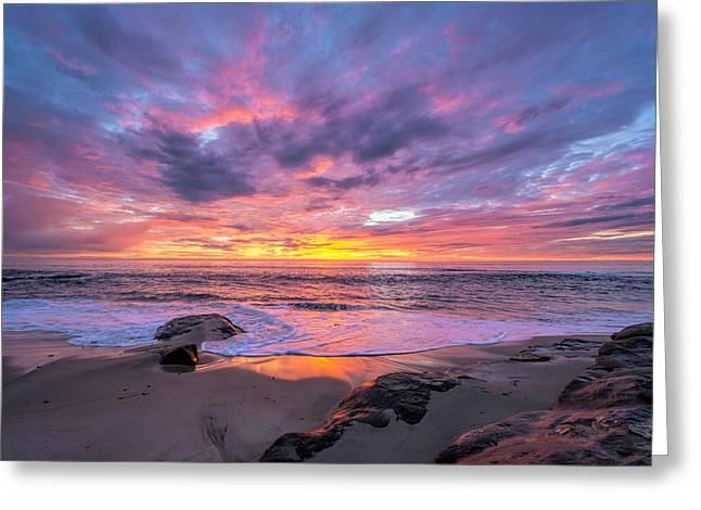 Windansea Beach Sunset Greeting Card