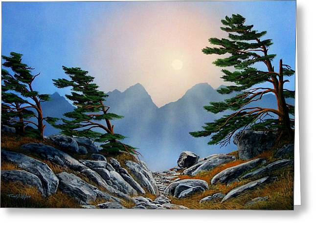 Windblown Pines Greeting Card by Frank Wilson