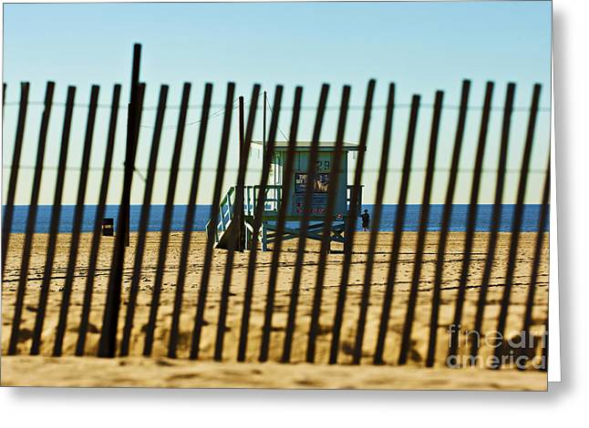 Windbreake On The Beach 3 Greeting Card