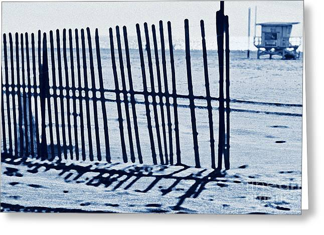 Windbreake On The Beach 4 Greeting Card