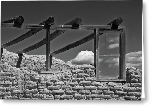 Greeting Card featuring the photograph Winddow View by Carolyn Dalessandro