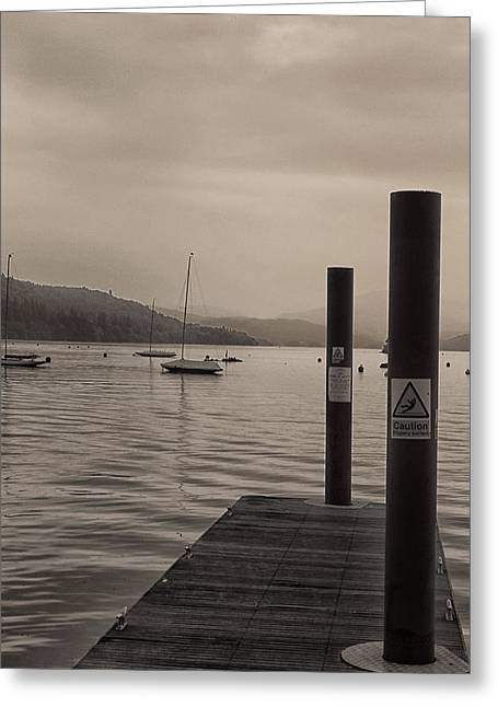 Windereme Jetty Greeting Card by Martin Newman