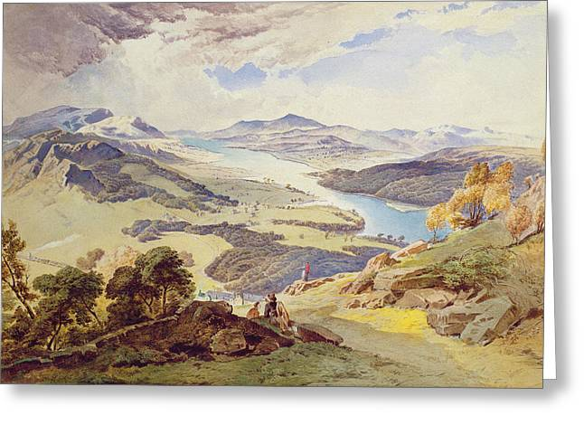 Fell Greeting Cards - Windermere from Ormot Head Greeting Card by William Turner