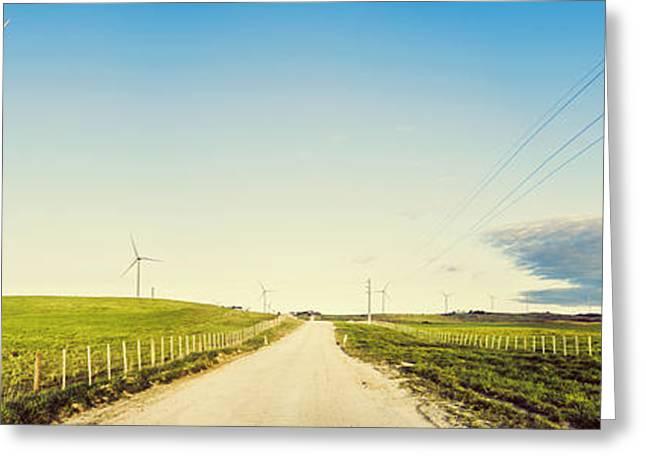 Windfarm Way Greeting Card
