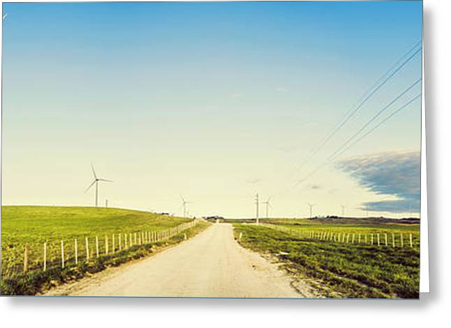 Windfarm Way Greeting Card