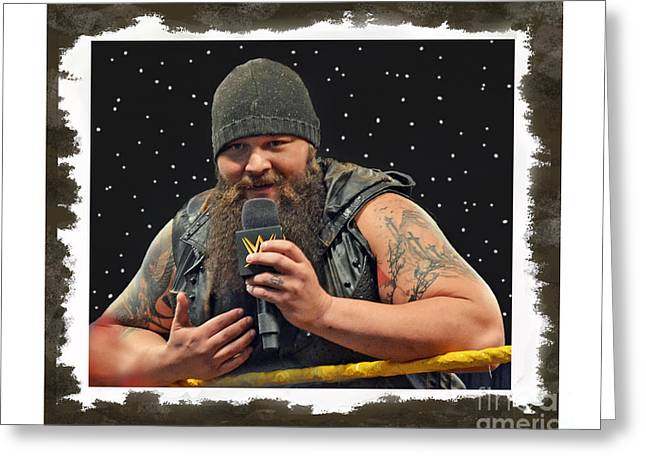 Windham Lawrence Rotunda Pro Wrestling Character Bray Wyatt Greeting Card by Jim Fitzpatrick