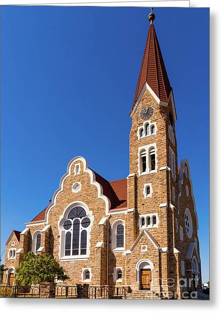 Windhoek Christ Church Greeting Card by Inge Johnsson