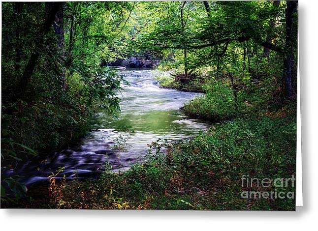 Winding Creek At Chickasaw National Recreation Area In Horizontal Greeting Card