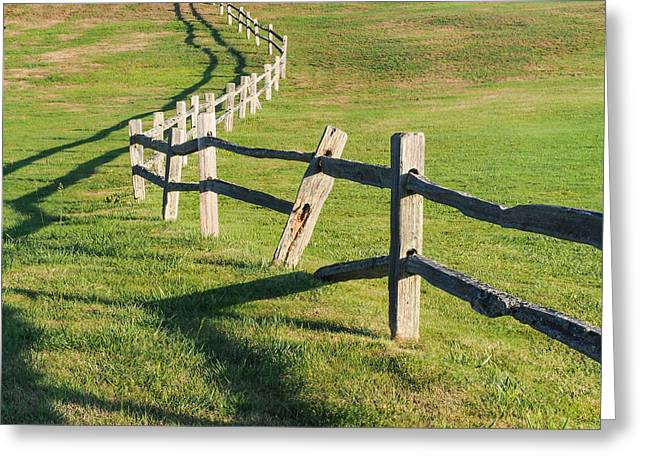 Winding Fences Greeting Card